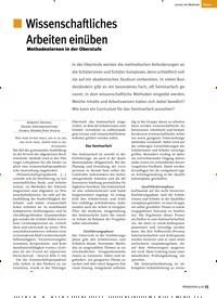 Titelbild der Ausgabe 9/2018 von Wissenschaftliches Arbeiten einüben. Zeitschriften als Abo oder epaper bei United Kiosk online kaufen.
