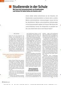 Titelbild der Ausgabe 10/2018 von Studierende in der Schule: Wie kann die Zusammenarbeit von Studierenden und Schule für beide Seiten ein Gewinn sein?. Zeitschriften als Abo oder epaper bei United Kiosk online kaufen.