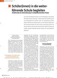 Titelbild der Ausgabe 10/2018 von Schüler(innen) in die weiterführende Schule begleiten: Studierende als Unterstützung in multiprofessionellen Teams. Zeitschriften als Abo oder epaper bei United Kiosk online kaufen.