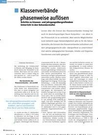 Titelbild der Ausgabe 1/2019 von Jahrgangsübergreifendes Lernen: Klassenverbände phasenweise auflösen. Zeitschriften als Abo oder epaper bei United Kiosk online kaufen.