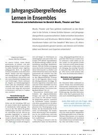 Titelbild der Ausgabe 1/2019 von Jahrgangsübergreifendes Lernen: Jahrgangsübergreifendes Lernen in Ensembles. Zeitschriften als Abo oder epaper bei United Kiosk online kaufen.