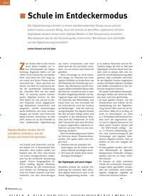 Titelbild der Ausgabe 4/2019 von Schule im Entdeckermodus. Zeitschriften als Abo oder epaper bei United Kiosk online kaufen.