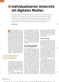 Titelbild der Ausgabe 4/2019 von Individualisierter Unterricht mit digitalen Medien. Zeitschriften als Abo oder epaper bei United Kiosk online kaufen.