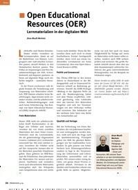 Titelbild der Ausgabe 4/2019 von Open Educational Resources (OER) Lernmaterialien in der digitalen Welt. Zeitschriften als Abo oder epaper bei United Kiosk online kaufen.