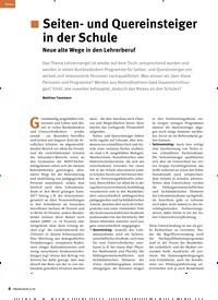 Titelbild der Ausgabe 6/2019 von Seiten- und Quereinsteiger in der Schule: Neue alte Wege in den Lehrerberuf. Zeitschriften als Abo oder epaper bei United Kiosk online kaufen.