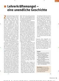 Titelbild der Ausgabe 6/2019 von Lehrerkräftemangel – eine unendliche Geschichte. Zeitschriften als Abo oder epaper bei United Kiosk online kaufen.