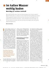 Titelbild der Ausgabe 6/2019 von .Im kalten Wasser wohlig baden: Mein Weg zur »echten« Lehrkraft. Zeitschriften als Abo oder epaper bei United Kiosk online kaufen.