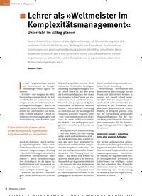 Titelbild der Ausgabe 8/2019 von .Lehrer als »Weltmeister im Komplexitätsmanagement«: Unterricht im Alltag planen. Zeitschriften als Abo oder epaper bei United Kiosk online kaufen.