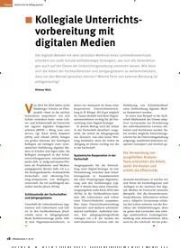 Titelbild der Ausgabe 8/2019 von Kollegiale Unterrichtsvorbereitung mit digitalen Medien. Zeitschriften als Abo oder epaper bei United Kiosk online kaufen.