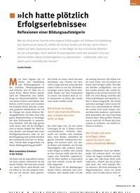 Titelbild der Ausgabe 10/2019 von »Ich hatte plötzlich Erfolgserlebnisse« Reflexionen einer Bildungsaufsteigerin. Zeitschriften als Abo oder epaper bei United Kiosk online kaufen.