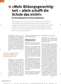 Titelbild der Ausgabe 10/2019 von »Mehr Bildungsgerechtigkeit – allein schafft die Schule das nicht!« Ein Schreibgespräch mit Hans Brügelmann. Zeitschriften als Abo oder epaper bei United Kiosk online kaufen.