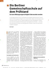 Titelbild der Ausgabe 10/2019 von Die Berliner Gemeinschaftsschule auf dem Prüfstand: So kann Bildungsungerechtigkeit überwunden werden. Zeitschriften als Abo oder epaper bei United Kiosk online kaufen.