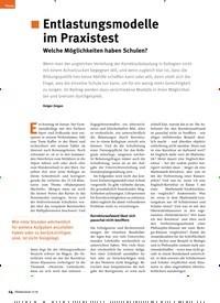 Titelbild der Ausgabe 11/2019 von ¦ Entlastungsmodelle im Praxistest: Welche Möglichkeiten haben Schulen?. Zeitschriften als Abo oder epaper bei United Kiosk online kaufen.