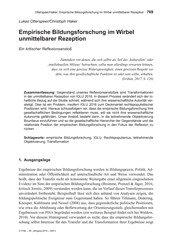 Titelbild der Ausgabe 5/2019 von Lukas Otterspeer/Christoph Haker: Empirische Bildungsforschung im Wirbel unmittelbarer Rezeption. Zeitschriften als Abo oder epaper bei United Kiosk online kaufen.