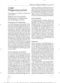 Titelbild der Ausgabe 4/2019 von Junge Pflegewissenschaft. Zeitschriften als Abo oder epaper bei United Kiosk online kaufen.