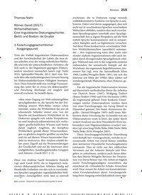 Titelbild der Ausgabe 2/2019 von Römer, David (2017): Wirtschaftskrisen. Eine linguistische Diskursgeschichte. Berlin und Boston: de Gruyter. Zeitschriften als Abo oder epaper bei United Kiosk online kaufen.