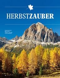 Titelbild der Ausgabe 10/2019 von Dolomiten: Bergwandern: HERBSTZAUBER. Zeitschriften als Abo oder epaper bei United Kiosk online kaufen.
