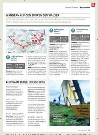 Titelbild der Ausgabe 12/2019 von Service: Piemont: Bergwandern: WANDERN AUF DEN SPUREN DER WALSER. Zeitschriften als Abo oder epaper bei United Kiosk online kaufen.