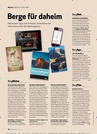 Titelbild der Ausgabe 12/2019 von Medien: Bücher, Filme, Web: Berge für daheim. Zeitschriften als Abo oder epaper bei United Kiosk online kaufen.