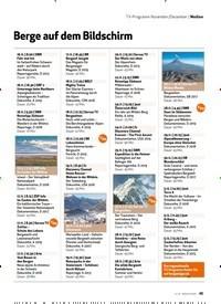 Titelbild der Ausgabe 12/2019 von Medien: TV-Programm November/Dezember: Berge auf dem Bildschirm. Zeitschriften als Abo oder epaper bei United Kiosk online kaufen.