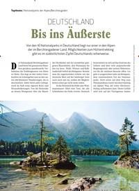 Titelbild der Ausgabe 1/2020 von Nationalparks der Alpen/Berchtesgaden: DEUTSCHLAND Bis ins Äußerste. Zeitschriften als Abo oder epaper bei United Kiosk online kaufen.