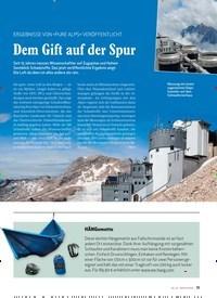 Titelbild der Ausgabe 6/2020 von ERGEBNISSE VON »PURE ALPS« VERÖFFENTLICHT: Dem Gift auf der Spur. Zeitschriften als Abo oder epaper bei United Kiosk online kaufen.