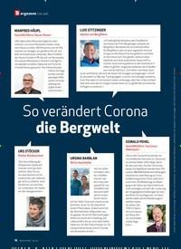 Titelbild der Ausgabe 6/2020 von Bergszene | im Juni: So verändert Corona die Bergwelt. Zeitschriften als Abo oder epaper bei United Kiosk online kaufen.