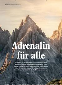 Titelbild der Ausgabe 6/2020 von Topthema | 3000er für Wanderer: Adrenalin für alle. Zeitschriften als Abo oder epaper bei United Kiosk online kaufen.
