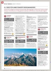 Titelbild der Ausgabe 6/2020 von Service | Topthema | 3000er für Wanderer: 6 x 3000 für Ambitionierte BergWanderer. Zeitschriften als Abo oder epaper bei United Kiosk online kaufen.