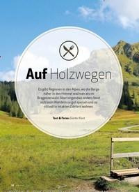 Titelbild der Ausgabe 10/2020 von Bregenzerwald | Bergwandern: Auf Holzwegen. Zeitschriften als Abo oder epaper bei United Kiosk online kaufen.