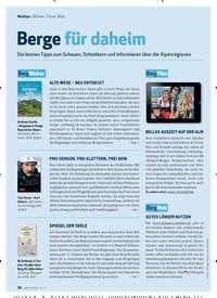 Titelbild der Ausgabe 1/2021 von Medien: Bücher, Filme, Web: Berge für daheim. Zeitschriften als Abo oder epaper bei United Kiosk online kaufen.