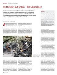 Titelbild der Ausgabe 5/2019 von Südsee-Archäologie: Im Himmel auf Erden – die Salomonen. Zeitschriften als Abo oder epaper bei United Kiosk online kaufen.