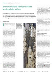 Titelbild der Ausgabe 6/2019 von Bronzezeitliche Königsresidenz am Rand der Wüste. Zeitschriften als Abo oder epaper bei United Kiosk online kaufen.
