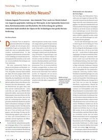 Titelbild der Ausgabe 1/2020 von Forschung Trier – römische Metropole: Im Westen nichts Neues?. Zeitschriften als Abo oder epaper bei United Kiosk online kaufen.
