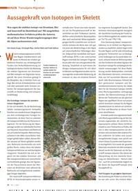 Titelbild der Ausgabe 1/2020 von THEMA: Transalpine ansalpine Migration: Aussagekraft von Isotopen im Skelett. Zeitschriften als Abo oder epaper bei United Kiosk online kaufen.