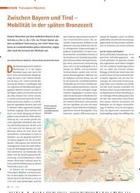 Titelbild der Ausgabe 1/2020 von THEMA: Transalpine ansalpine Migration: Zwischen Bayern und Tirol – Mobilität in der späten Bronzezeit. Zeitschriften als Abo oder epaper bei United Kiosk online kaufen.
