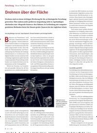 Titelbild der Ausgabe 2/2020 von Forschung: Neue Methoden der Dokumentation: Drohnen über der Fläche. Zeitschriften als Abo oder epaper bei United Kiosk online kaufen.
