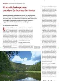 Titelbild der Ausgabe 2/2020 von Weltweit: Feuchtbodenarchäologie im Ural: Uralte Holzskulpturen aus dem Gorbunovo-Torfmoor. Zeitschriften als Abo oder epaper bei United Kiosk online kaufen.