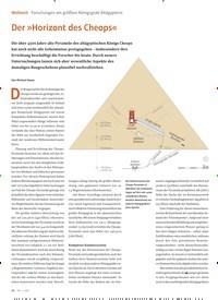 Titelbild der Ausgabe 1/2021 von Forschungen am größten Königsgrab Altägyptens: Der »Horizont des Cheops«. Zeitschriften als Abo oder epaper bei United Kiosk online kaufen.