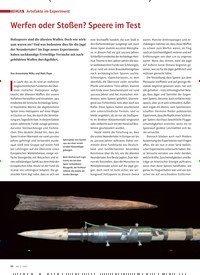 Titelbild der Ausgabe 2/2020 von Artefakte im Experiment: Werfen oder Stoßen? Speere im Test. Zeitschriften als Abo oder epaper bei United Kiosk online kaufen.