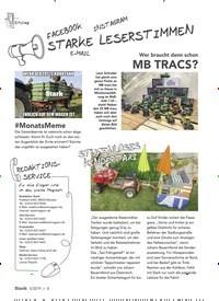 Titelbild der Ausgabe 5/2019 von STARKE LESERSTIMMEN. Zeitschriften als Abo oder epaper bei United Kiosk online kaufen.