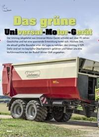 Titelbild der Ausgabe 5/2019 von Das grüne Universal-Motor-Gerät. Zeitschriften als Abo oder epaper bei United Kiosk online kaufen.