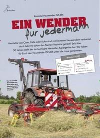 Titelbild der Ausgabe 5/2019 von Rozmital Heuwender OZ-454: EIN WENDER für jedermann. Zeitschriften als Abo oder epaper bei United Kiosk online kaufen.
