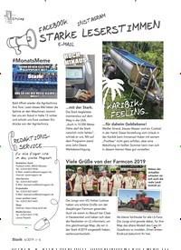 Titelbild der Ausgabe 6/2019 von STARKE LESERSTIMMEN. Zeitschriften als Abo oder epaper bei United Kiosk online kaufen.