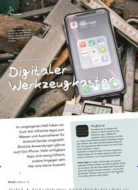 Titelbild der Ausgabe 2/2020 von Mess-Apps fürs iPhone ausprobiert: Digitaler Werkzeugkasten. Zeitschriften als Abo oder epaper bei United Kiosk online kaufen.