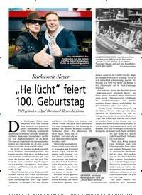 """Titelbild der Ausgabe 1/2019 von Advertorial: Barkassen-Meyer: """"He lücht"""" feiert 100. Geburtstag. Zeitschriften als Abo oder epaper bei United Kiosk online kaufen."""