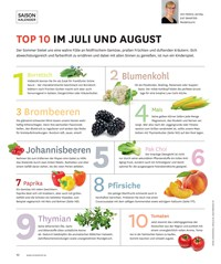 Titelbild der Ausgabe 4/2019 von SAISON KALENDER: TOP 10 IM JULI UND AUGUST. Zeitschriften als Abo oder epaper bei United Kiosk online kaufen.