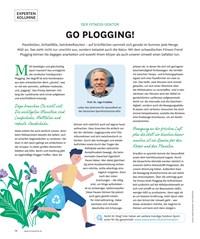 Titelbild der Ausgabe 4/2019 von EXPERTEN KOLUMNE: GO PLOGGING!. Zeitschriften als Abo oder epaper bei United Kiosk online kaufen.