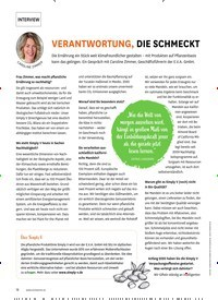Titelbild der Ausgabe 1/2021 von INTERVIEW: VERANTWORTUNG, DIE SCHMECKT. Zeitschriften als Abo oder epaper bei United Kiosk online kaufen.