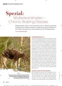 Titelbild der Ausgabe 3/2019 von AUS DER WISSENSCHAFT: Spezial: Wildtierkrankheiten – Chronic Wasting Disease. Zeitschriften als Abo oder epaper bei United Kiosk online kaufen.